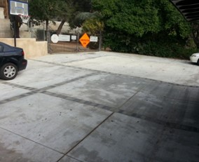 poorly poured concrete