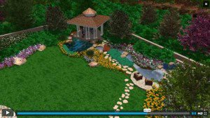 Screenshot of Video Playing custom 3d design landscape plans