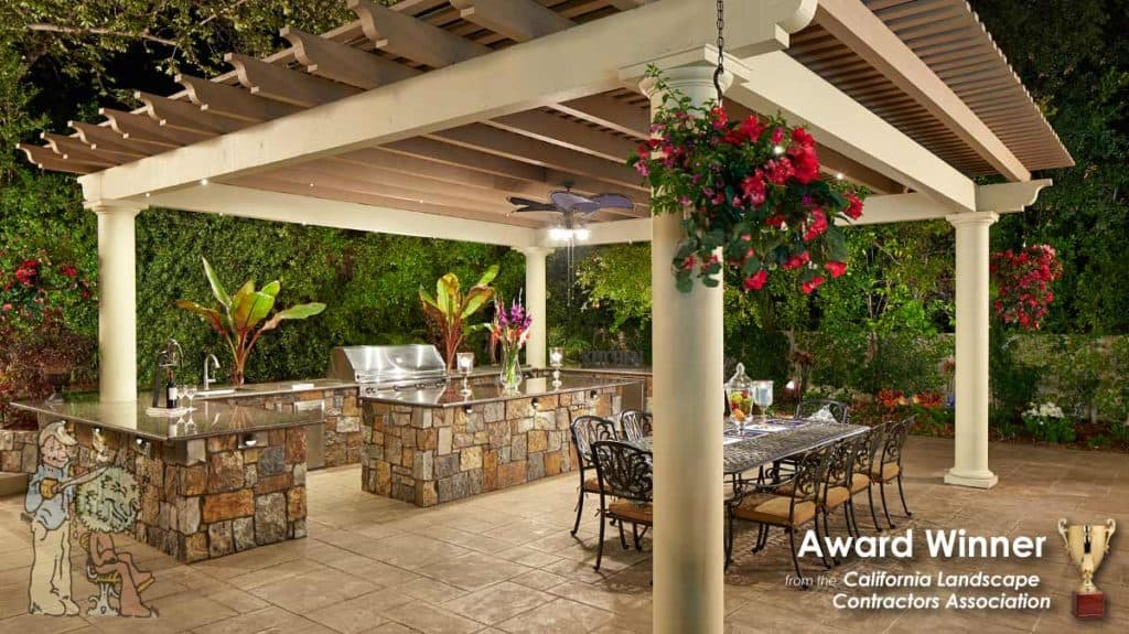 Arbor and outdoor bbq clca award winning backyard