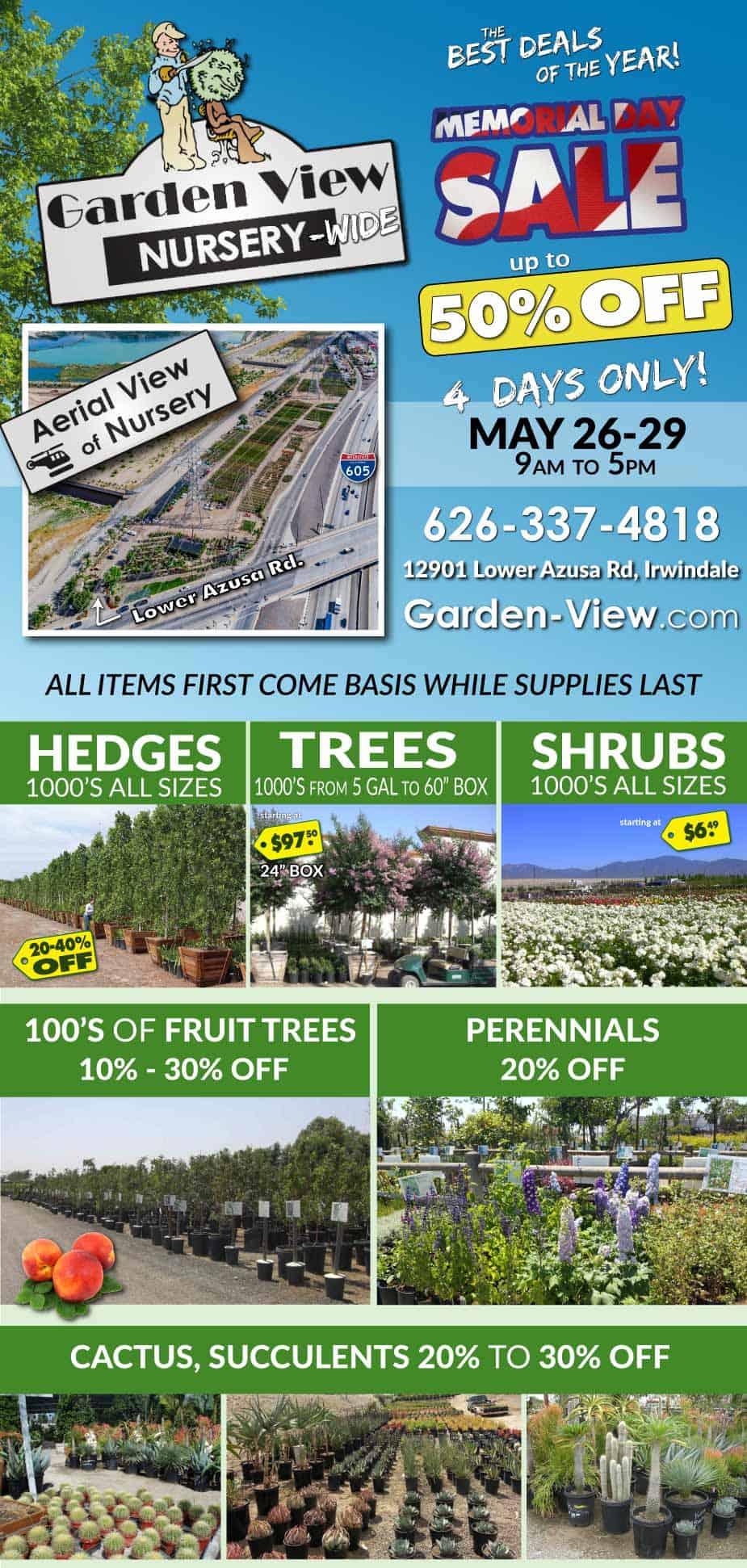 Memorial Day Sale 2017