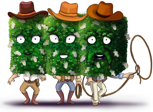 Texas Privet cartoon character