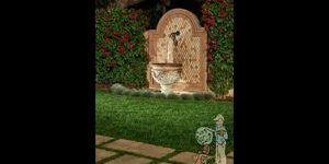 Spanish Style fountain in Sierra Madre