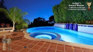 inifinity edge pool with custom tile