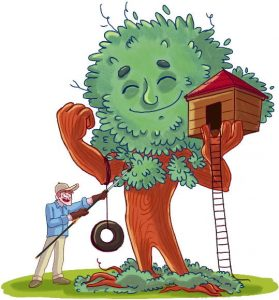 Gardy and Woody garden tips treehouse