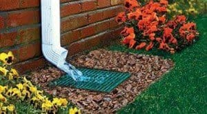 Downspout Catch Basin for Gutter water displacement