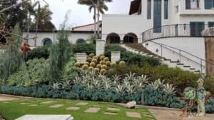 Mediterannean slope grass pavers