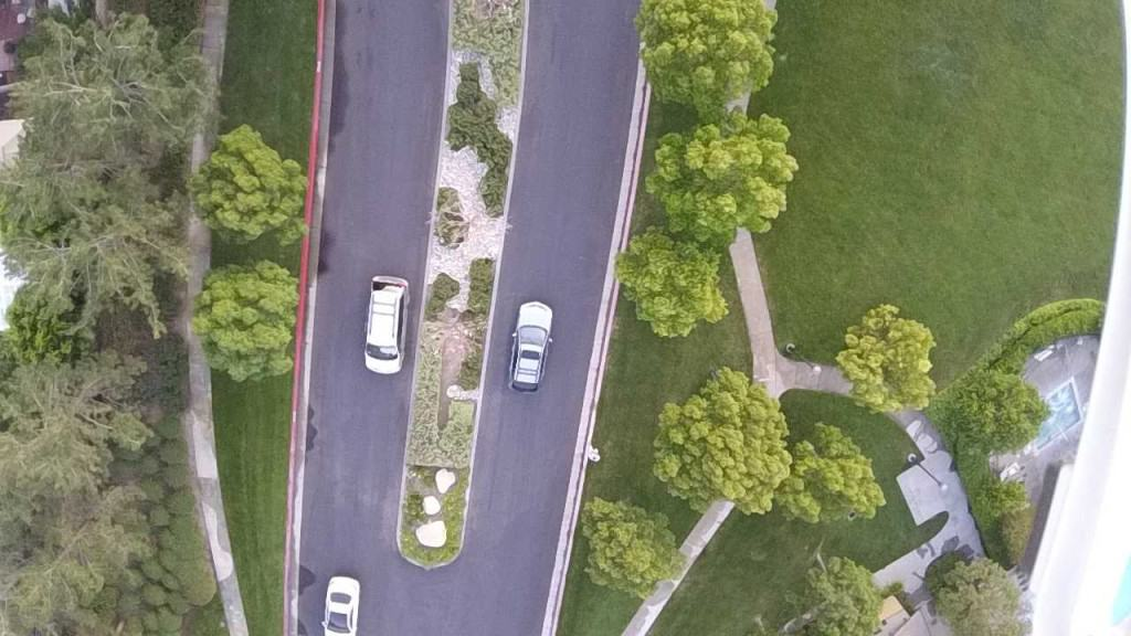 Birds eye view of Mountain Cove center divider and landscape maintenance