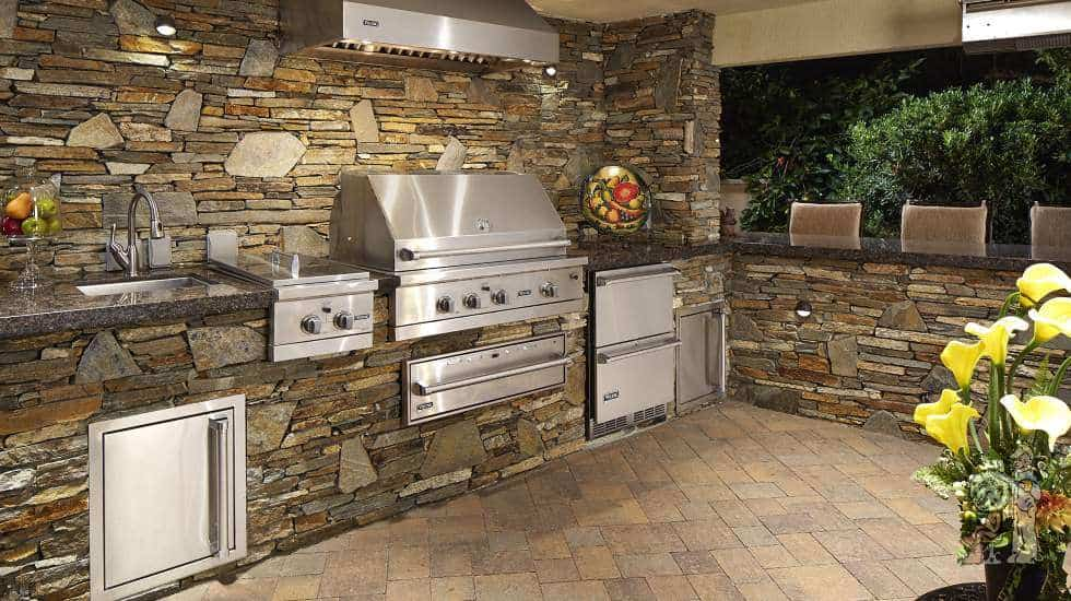 outdoor kitchen bbq refrigerator