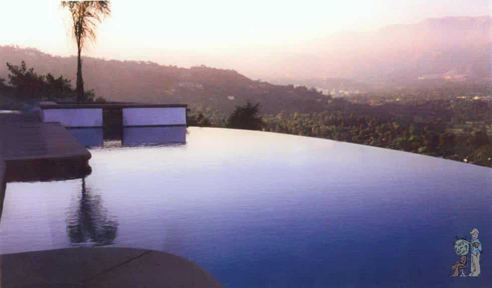 infinity edge pool in the foothills