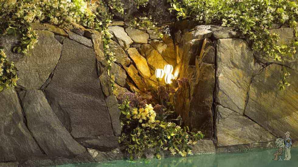real rock swimming pool cavern