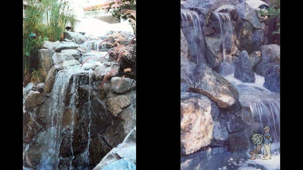 real rock waterfalls