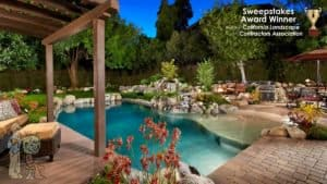 Award winning swimming pool in Sierra Madre, CA